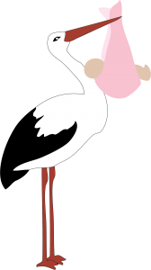 stork-delivering-baby-girl